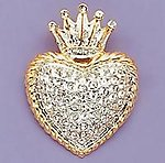 PA338: Heart / Crown Pin