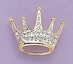 PA343: Crown Pin with Austrian Crystals