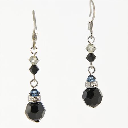 Rancho trading company ea426bk elegant black chandelier earrings click to see larger image aloadofball Gallery