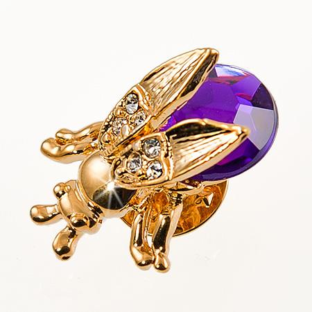 PA252: Crystal Moving Wing Bee Pin (6 Colors Available)