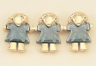 TA292G: Two-Tone Gold Three Sales Associates Tac, Females