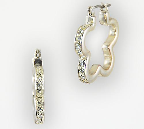 EA468: Austrian Crystal Hoop Earrings