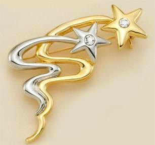 PA476: 2-Tone Shooting Stars Pin