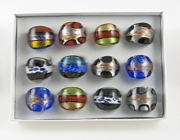 CL79:Assorted Moreno Glass Rings
