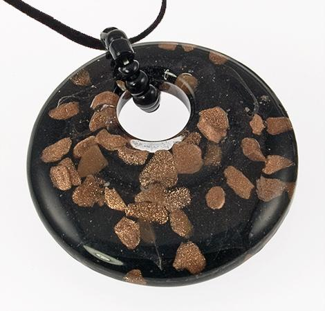 NA192: Blown Glass Circle Necklace