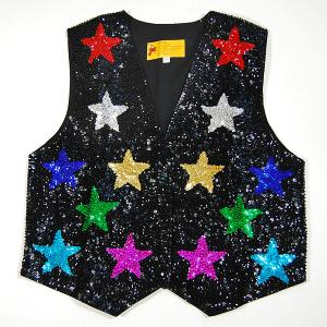 VE85: Color Stars Sequin Vest
