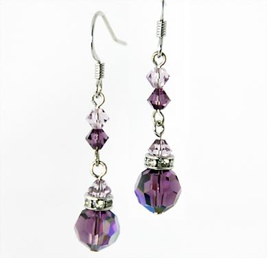 EA426: Elegant Dangle Amethyst Earrings