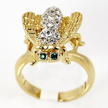 RA95: Austrian Crystal Bee Ring