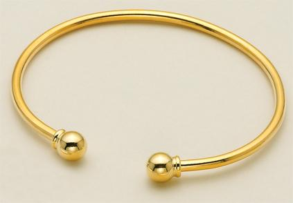 BR100G: Gold Charm Holder Bracelet