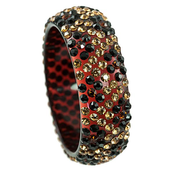 BR288: Austrian Crystal Leopard Bangle