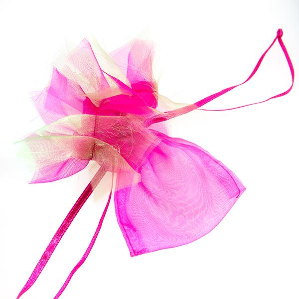 BXP62: Frilly Pink Organza Gift Bag