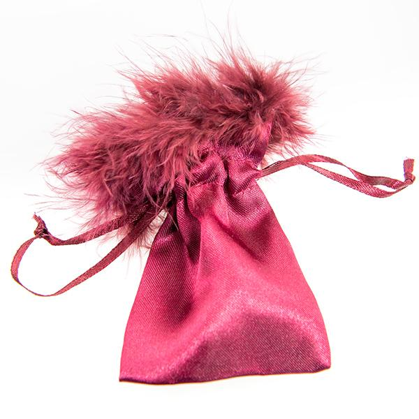 BXP64: Satin Feather Burgundy Gift Bag