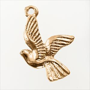 CH258: Dove Charm in Gold or Silver