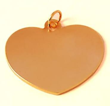 CH406A: Silver or Gold Heart Charm