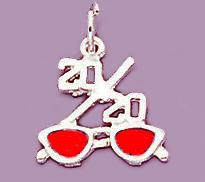CH94: 20/20 Red & Silver Sunglasses Charm