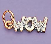 CH97: WOW Woman of Wonder Charm in Gold or Silver