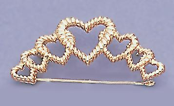 CHP106: Heart Charm Holder in Gold or Silver