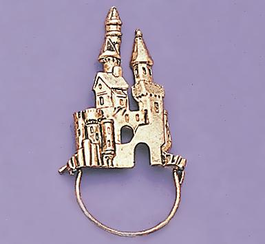 CHP107: Gold Castle Charm Holder Pin