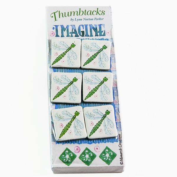 CL106: Dragonfly Thumb Tacs (6-Count)