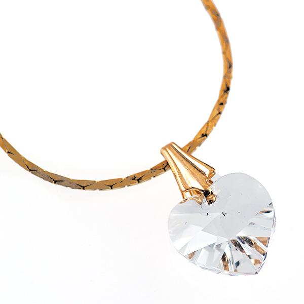 CL165: Swarovski Heart Necklace