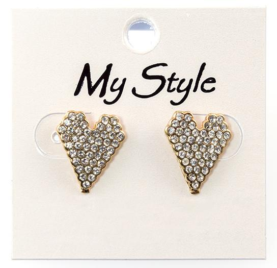 CL204: Crystal Heart Earrings