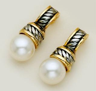 EA270: Pearl Stud Brightonesque Style Earrings