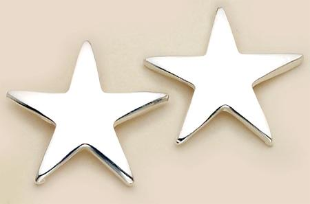 EA364: Silver Star Earrings