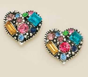 EA372: Multi-Color Heart Earrings