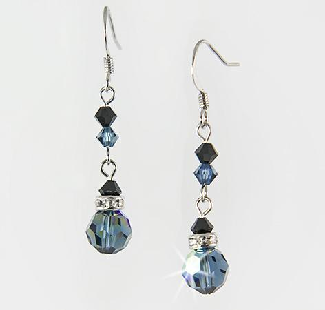 EA426S: Elegant Dangle Sapphire Earrings