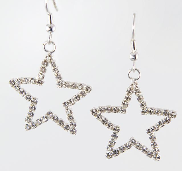 EA473: Crystal Star Earrings