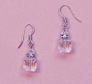 EA483C: Clear Swarovski Crystal Earrings