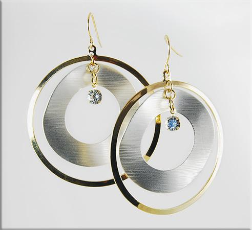 EA513: 2-Tone Hoop Earrings