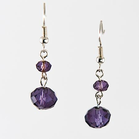 EA564PR: Crystal Earrings - Color Choice