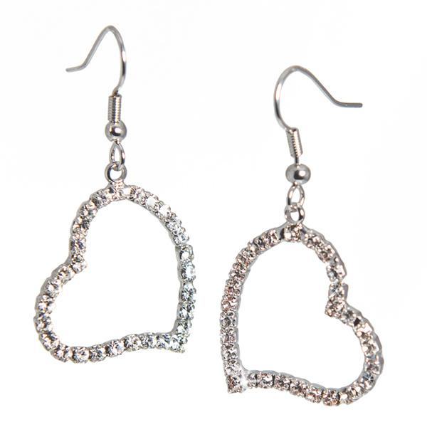 EA609: Crystal Heart Earrings