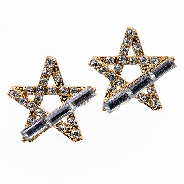 EA681: Crystal Star Earrings