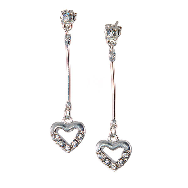 EA696: Silver Heart Earrings