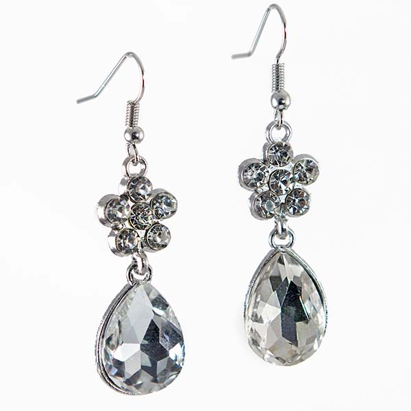 EA705: Silver or Gold Teardrop Earrings