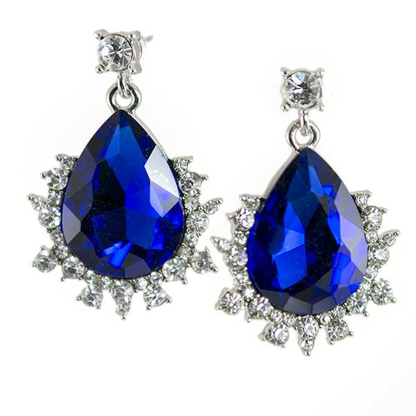 EA723: Sapphire Austrian Crystal Earrings