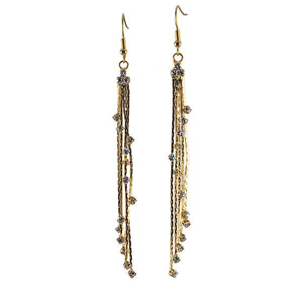 EA734: Cascading Gold or Silver Star Earrings