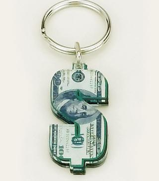 KE34: Dollar Sign Key Chain