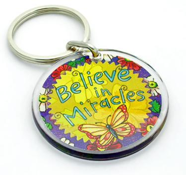 KE45CL: Believe In Miracles Keychain