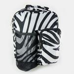 LL06Z: Zebra Shoulder Travel Bag (Also available in Black)