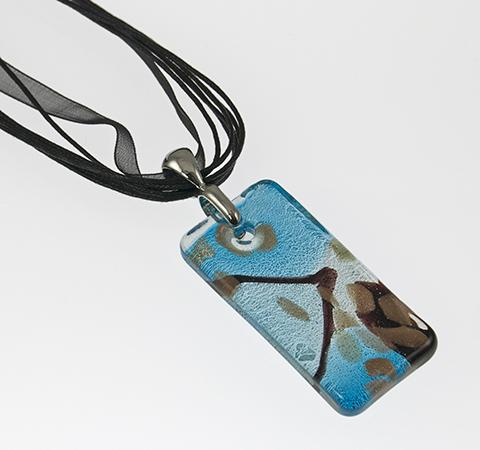 NA197: Blue Murano Glass Necklace