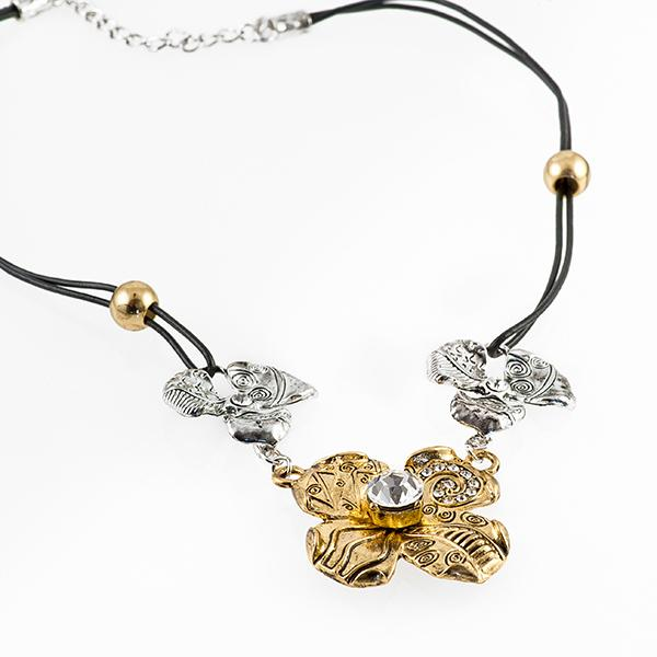 NA241: Floral Multi Tone Necklace