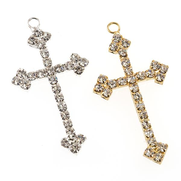 NA273: Silver/ Gold  Cross Pendant