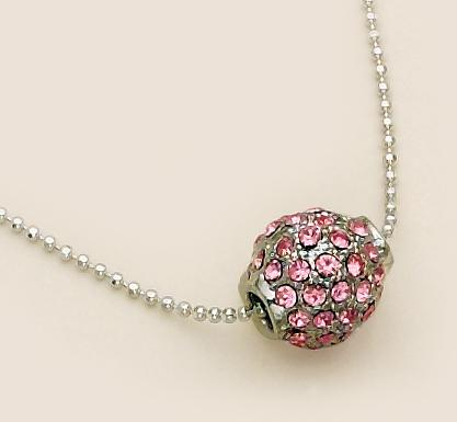 NAC10: Pink Fireball Necklace
