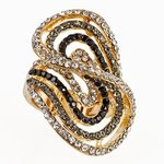 NC154:Austrian Crystal Designer Stretch Ring