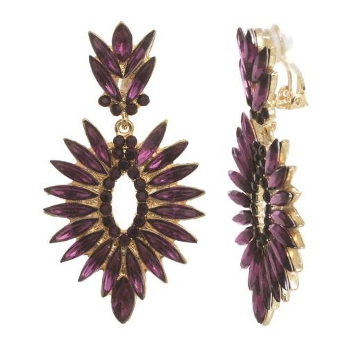 NC162: Amethyst Austrian Crystal Earrings