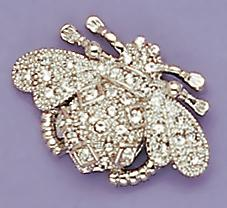 PA238C: Crystal Bee Pin