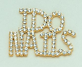 PA239: 'I Do Nails' Crystal Pin